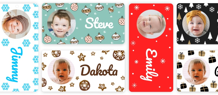 Picture of the Christmas name tags